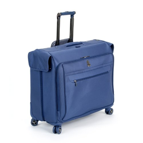 Delsey Luggage Helium X'pert Lite Ultra Light 4 Wheel Spinner Garment Bag, Blue, 45 Inch best seller