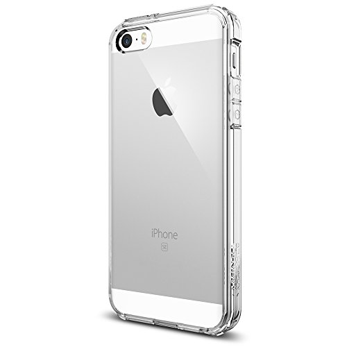 Coque iPhone SE, Spigen® Coque iPhone 5S / 5 / SE [Ultra Hybrid] Coussin d'Air [Crystal Clear] Coque Housse Bumper Cover pour 5S / 5 / SE (SGP10640)