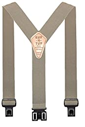 Perry Suspenders Mens Elastic Ruf-N-Tuf Hook End Suspenders, Tall, Tan