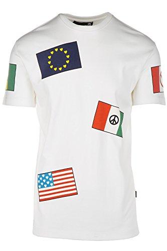 Love Moschino t-shirt maglia maniche corte girocollo uomo bianco EU M (UK 38) M 4 733 01 M 3671 A0