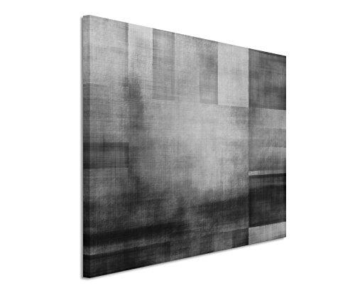 50x70cm Leinwandbild schwarz weiß in Topqualität Geometrisch Abstrakt