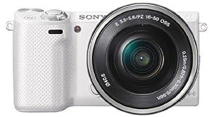 "Sony NEX5RLW.CE Appareil photo numérique hybride Ecran 3"" 16,1 Mpix Blanc"