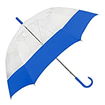 Stromberg Brand The Bubble Fashion Umbrella, Clear/Royal Blue, One Size