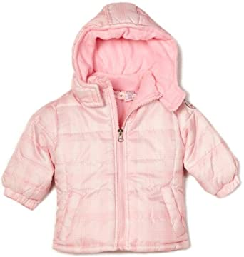 Pink Platinum Baby-girls Infant Tonal Plaid Puffer Jacket, Pink, 24 Months