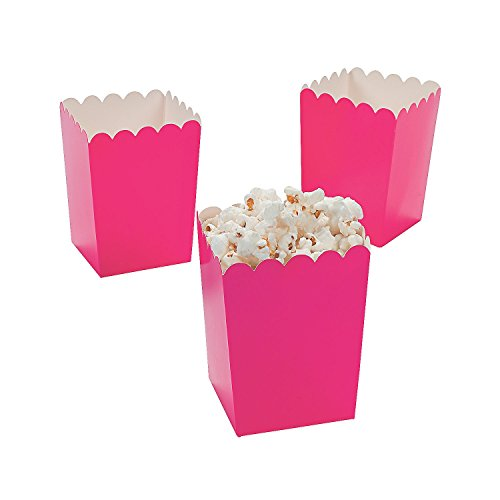 Oriental Trading Mini Valentine Popcorn Boxes, Hot Pink, 24 Pieces (3/3590)
