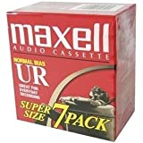 Maxell UR-90 Blank Audio Cassette Tape - 7 Pack (108575)