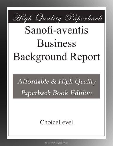 sanofi-aventis-business-background-report