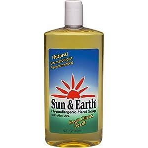Sun & Earth Liquid Hand Soap Pump Refill, 16-Ounce Bottles (Pack of 6)