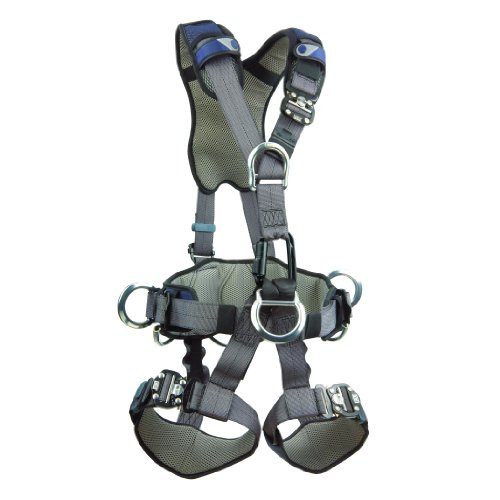 Dbi-Sala,Exofit Nex 1113346 Full Body Rope Access/Rescue Harness, Alum. Back/Front/Suspension D-Rings, Belt W/ Pad/Side D-Rings, Locking Qc Leg Straps, Medium, Blue/Grey front-1062958