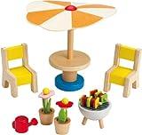 Hape Happy Family Doll House Furniture Patio Set