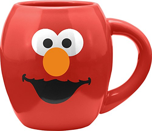 Sesame Street Elmo Monster 18 Oz. Oval Ceramic Mug