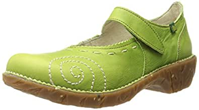 El Naturalista Women's Yggdrasil N095 Green Leather 36 M EU (5-5.5 US Women)