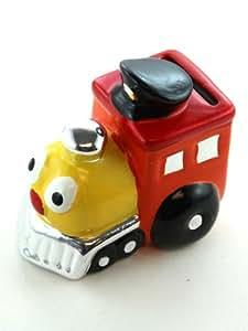 Orange train piggy bank kids coin bank toys games - Train piggy banks ...