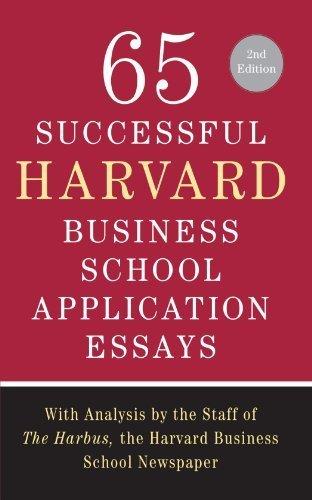 65 successful harvard essays