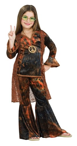 Child's Brown Woodstock Diva Costume