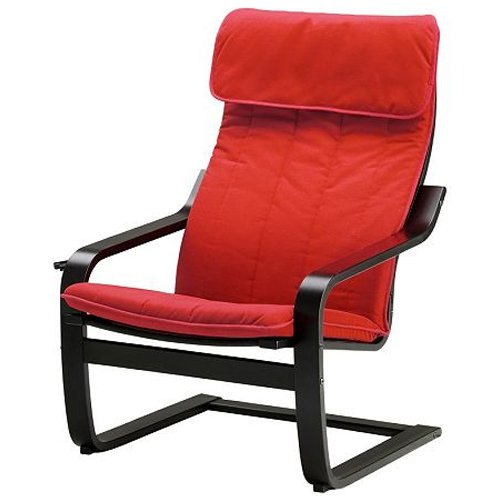Ikea Poang Chair Armchair With Cushion, Cover And Frame front-945195