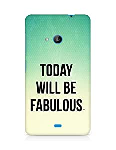 AMEZ today will be fabulous Back Cover For Microsoft Lumia 535