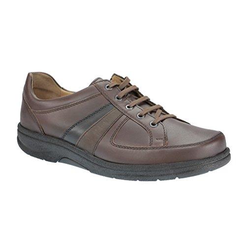 Strober 866808 uomo Derby laccio semi scarpe., Marrone (marrone), 46.5 EU