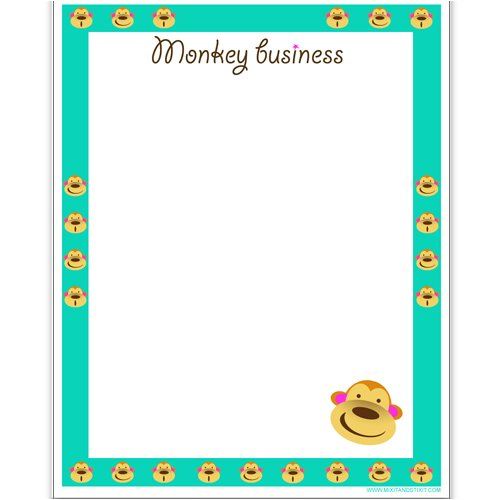 Monkey Business Magnetic Dry Erase Board with Dry Erase Marker (Great Gift Idea)