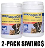 2-PACK ProDen PlaqueOff Animal. All Natural Solution against Tartar & Plaque