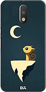 DailyObjects Moon Cat Case For Motorola Moto G4/Moto G4 Plus