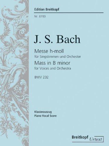 Messe h-moll BWV 232 - Breitkopf Urtext - Klavierauszug (EB 8700)