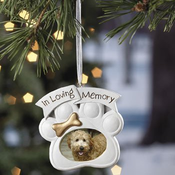 Loving Memory Dog Memorial Christmas Photo Ornament