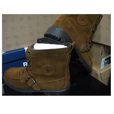 Ralph Lauren Polo Big Kids Ranger HI Boot in Snuff Suede (5.5 Big Kid, Snuff Suede)