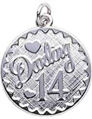 Rembrandt Charms 14th Birthday Charm Sterling Silver