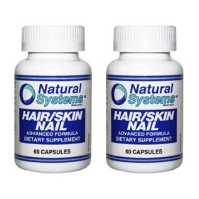 Natural Systems 2 Pack Hair/Skin Nail 2X60 Capsules Antioxidant Antiageing Vitamins