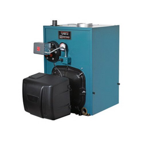 Burnham PV8H4WC-TBWN Water/Steam Oil Fired Boiler Less Tankless Coil, 1.35 gph, 141 MBH