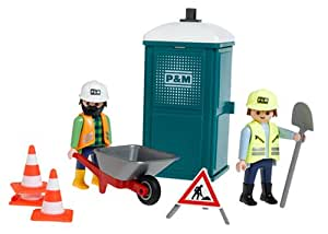 Playmobil Portable Bathroom With Crew