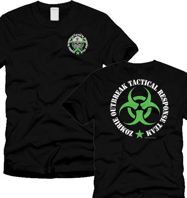 Zombie Outbreak Containment With Skull T-Shirt - Neon Green (M)