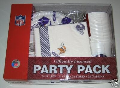 NFL Minnesota Vikings Party Pack