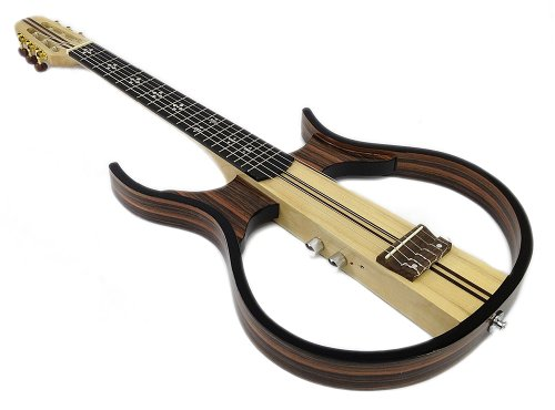 Silent Acoustic Guitar Sandalwood Hollow Body Electric - Headphones Included