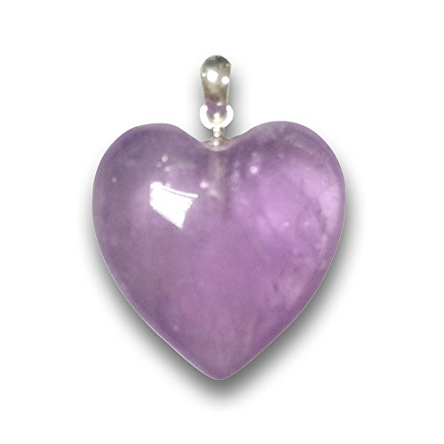 Pure natural Amethyst Crystal Heart shaped necklace pendant Random Color For Necklace accessories Crystal stone (Pure Amethyst Crystal compare prices)