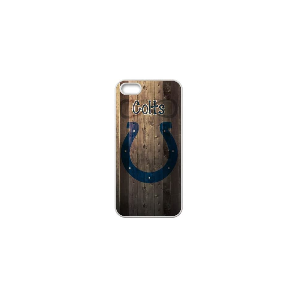 Custom Indianapolis Colts Team Logo Wood Background Design 3D Printed Carrying Case for iPhone 5 USASherry 00346 Cell Phones & Accessories