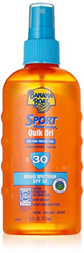 Banana Boat Sport Performance Quik Dri SPF 30 Sunscreen Spray, 6 Ounce