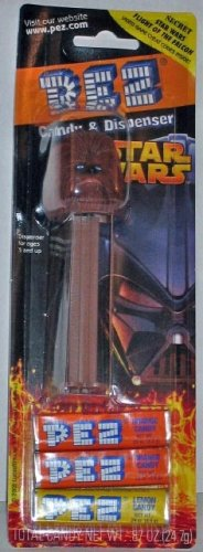 Pez Candy Dispenser: Star Wars Chewbacca Blister Card - 1