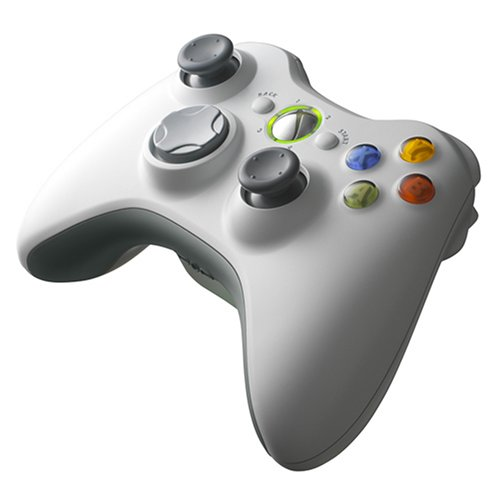 Official White Microsoft Xbox 360 Wireless Controller