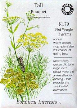 Dill Bouquet Certified Organic Heriloom Seeds 600 SeedsB0006BHPE2