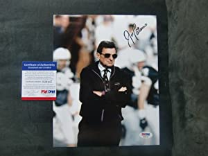 Joe Paterno Rare! signed Penn State Nittany Lions 8x10 photo PSA DNA cert by Authenticated+Ink