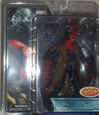 Buy Low Price Mezco Hellboy Movie Previews Exclusive 8-Inch Hellboy Variant (with Horns & Battle-Damaged Trenchcoat) Action Figure (B000GRH48S)