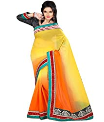 PARIFASHION Georgette Saree
