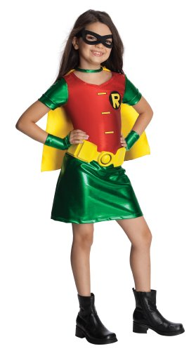 Teen Titans Child'S Robin Dress Costume - Medium front-513000