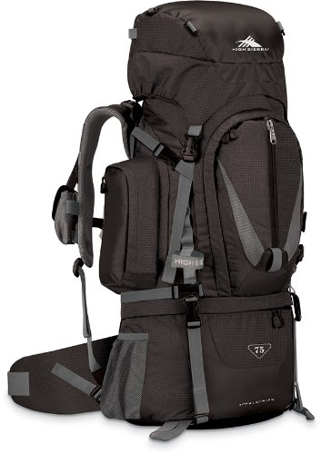 High Sierra Classic Series 59501 Appalachian 75 Internal Frame Pack Black 34X14.25X10.25 Inches 4580 Cubic Inches 75 Liters front-435272