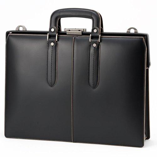 LuggageAOKI(青木鞄)[COMPLEX-GARDENS 枯淡]ビジネスブリーフ 口枠 ブラック(3684-10)