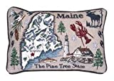 """USA States Decorative 9""""x12"""" Tapestry Toss Pillow Made in the USA (Maine state)"""