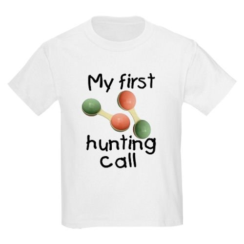 Toddler Tshirt - 5.5oz.100% Cotton in White Yellow Light Pink or Baby Blue My first hunting call