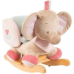 Nattou 655521 Schaukeltier Rose der Elefant